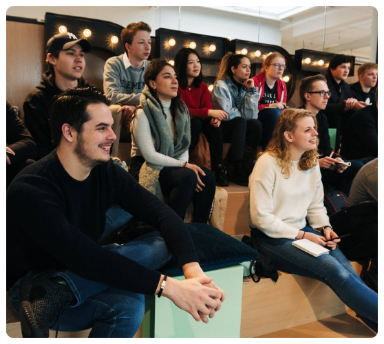 Students in our tech event