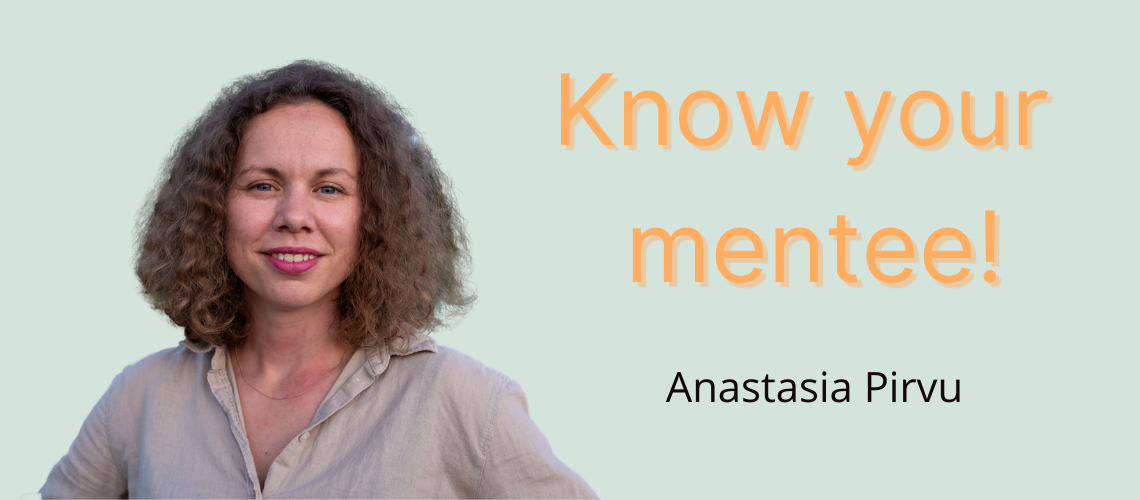 Our mentee with a background in international relations Anastasia